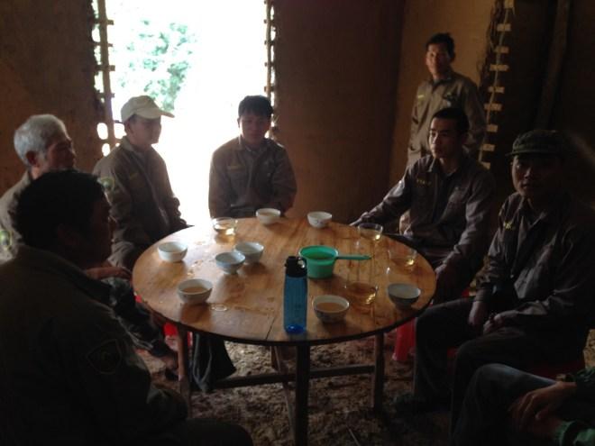 rangers drinking tea