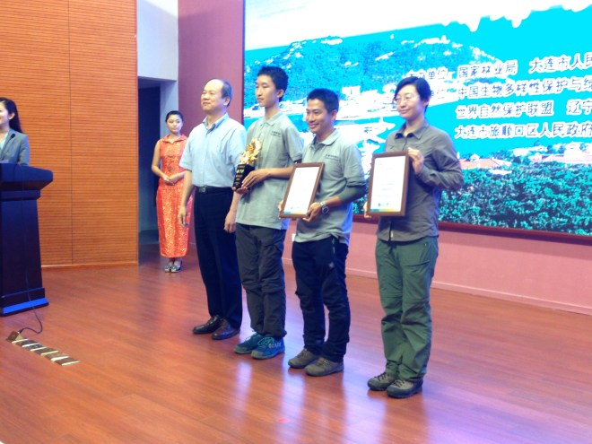 The China Wild Tour team receiving their award for 1st place.