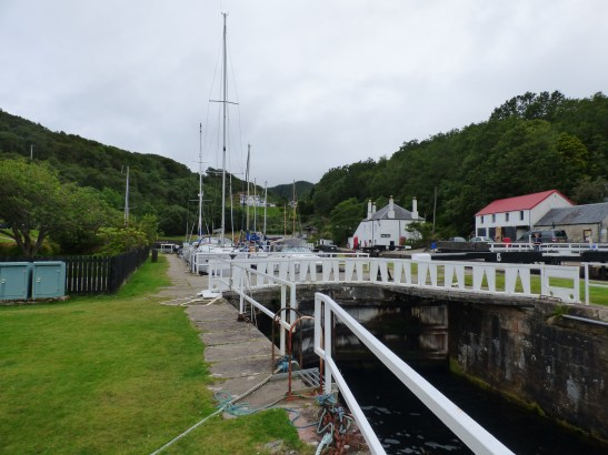 One of the many locks on the Crinan Canal