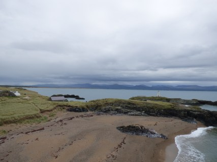 Looking back towards mainland Wales