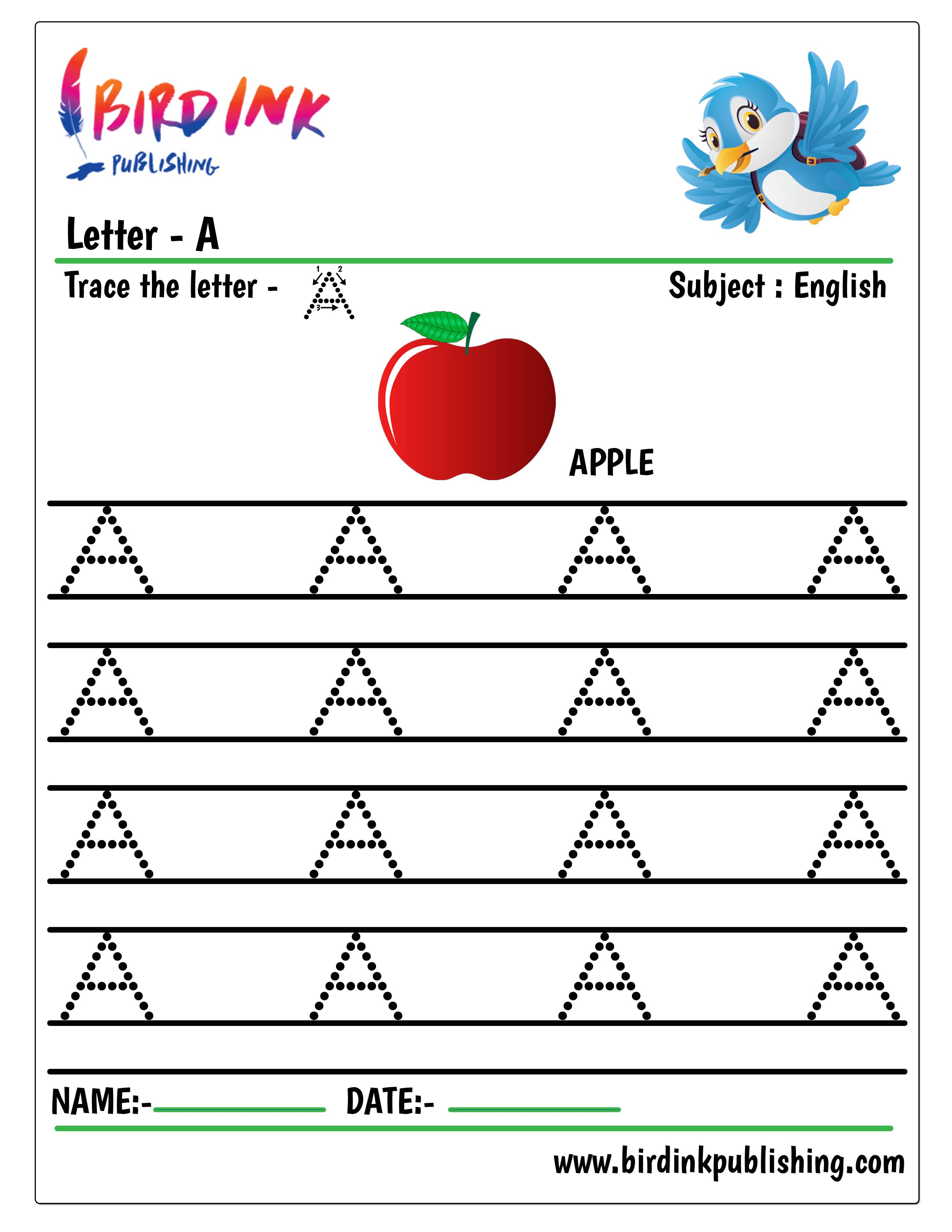 Find Trace Colour Amp Write Lowercase Letters