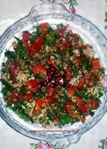ton balıklı mercimek salata