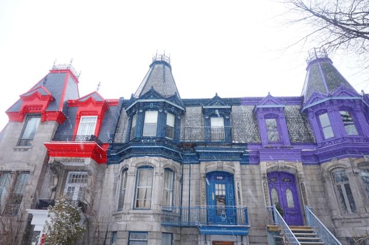 Les belles maisons colorées de Montréal