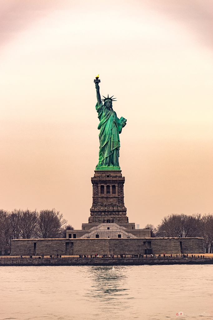 Front view of the Statue of Liberty