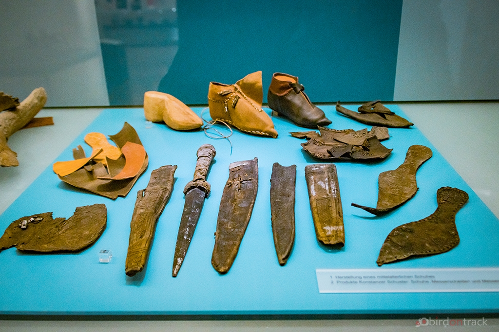 Medieval boots and daggers
