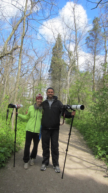 Bird photographers at Point Pelee