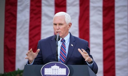 Vice President Mike Pence in the Rose Garden of the White House in Washington, on Nov. 13, 2020. (Mandel Ngan/AFP via Getty Images)
