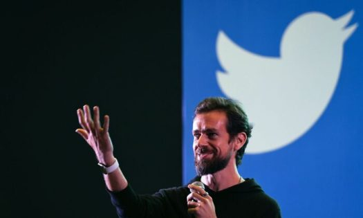 Twitter CEO and co-founder Jack Dorsey gestures while interacting with students at the Indian Institute of Technology (IIT) in New Delhi, India, on Nov. 12, 2018. (Prakash Singh/AFP via Getty Images)