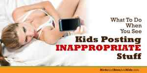 Please Tattle On Other Kids' Inappropriate Social Media Posts