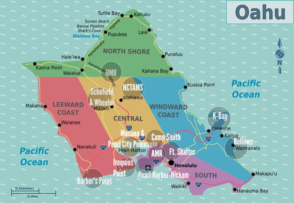Physical Map Yucatan Peninsula