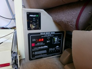 Solar controller and remote inverter switch