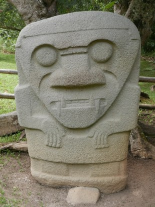 Sculpture at the San Agustín Archaeological Park