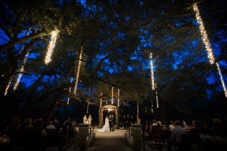 Night wedding at Sacred Oaks Camp Lucy