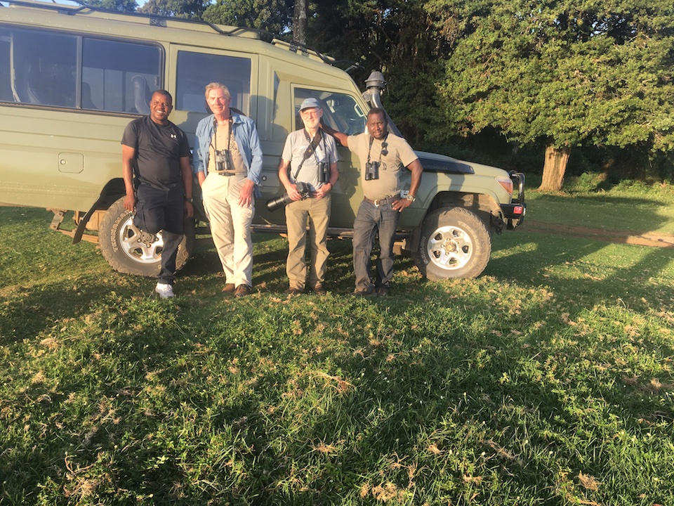 Ian Reid and Haynes Miller from the US at Castle forest lodge, Mt Kenya during their birding trip in JAN 2019