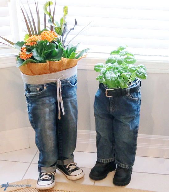 Upcycle old blue jeans into a blue jean planter | birdz of a feather | blue jean upcycle | blue jean upcycling | blue jean crafts | blue jean craft DIY | planter ideas | denim planter | | denim planters | blue jeans | blue jean planter | blue jean planters | blue jean planters diy | blue jean planters how to make | standing planter } standing planters diy | denim upcycle | denim crafts | upcycle clothes | upcycle ideas #bluejeans #planters #planterideas #denim #upcycleddenim #upcycle #upcycling