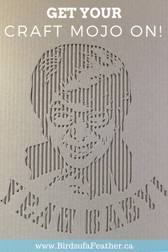 This cardboard portrait of Austin Powers is not only 'green' but groovy too! At Birdz of a Feather, we're about to get our craft mojo on; yeah baby! Birdz of a Feather | Cardboard art | cardboard art diy | cardboard portraits | cardboard portraits faces | cardboard crafts | cardboard art ideas