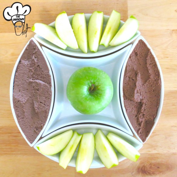 This dessert hummus whips up within minutes in a food processor. It's a healthy snack that will satisfy any sweet tooth and cholcolate lover!