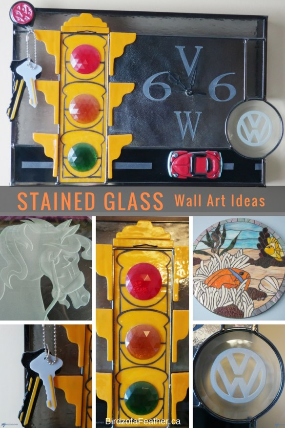 Stained glass wall art can make a stunning addition to any bedroom decor! Today I'm showcases a few of the mosaic, fused and stained glass pieces I've made.