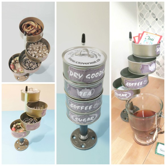 The recycle pile has untapped potential for tin can craft! Grab some tuna cans to create a tuna can swing out. Betcha can't make just one!  Birdz of a feather | tuna can crafts | tuna can crafts diy | tuna can crafts ideas | tin can art | tin can crafts | tin can crafts diy | tin can | aluminum can crafts | aluminum can crafts diy | aluminum can crafts projects | aluminum can crafts for kids | tuna can crafts upcycle | tuna can crafts upcycling | Tuna can swing out | tuna can upcycle | storage