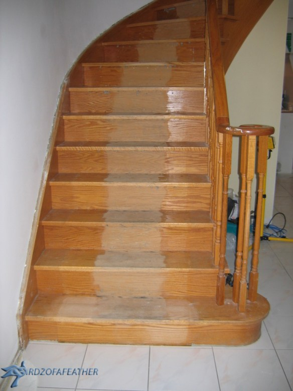Staircase Makeover | How to strip and refinish a staircase | #DIY #stairsmakeover #staircaseideas #staircase #stairrailingideas | BirdzofaFeather.ca