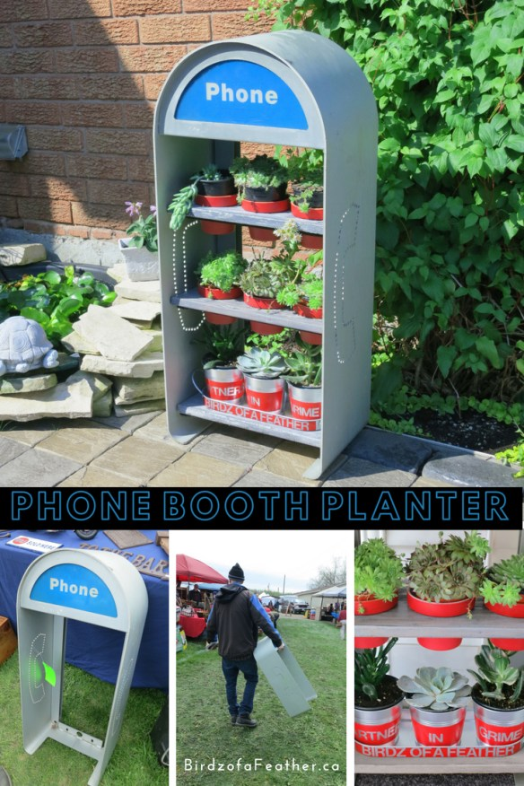 """This phone booth upcycle has been described as """"the best use of a phone booth since superman"""". Repurpose a retro phone booth enclosure into a planter 