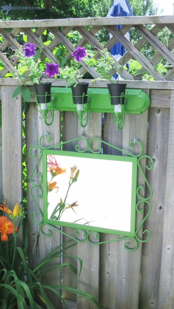 Upcycle a bathroom light fixture into a planter for the garden | Birdz of a Feather | | upcycle | upcycling | upcycling ideas | upcycled | repurposed | repurposed items | light fixture upcycle | light fixture upcycle ideas | bathroom light fixture makeover | bathroom light fixture over mirror | planter upcycle | planter upcycle repurposed | planter upcycle ideas #upcycle #upcycling #repurposed #planter #upcycledplanter