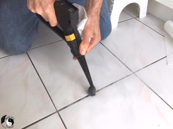 Steam clean your floors for a sparkling finish and refresh your grout so it looks like new! Birdz of a Feather | Steam Clean | clean grout on tile floors | grout cleaning | how to make your grout new again #steamcleaning #steamcleaner #cleaningtips #cleaninghacks #homeimprovement #cleaning #groutcleaning #grout #birdzofafeather.ca
