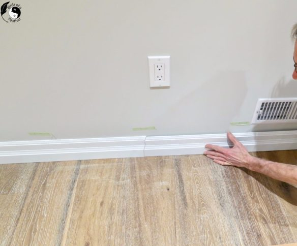 Whether you're building something from scratch or just updating unattractive trim, learn how to install baseboards for great looking professional results. | How to install baseboards | how to install baseboard trim | how to install baseboards diy | DIY | Baseboard DIY | baseboards and trim | baseboard ideas | baseboards | baseboard trim | baseboard tips and tricks | baseboard caulking | baseboard caulking tips | Birdzofafeather.ca