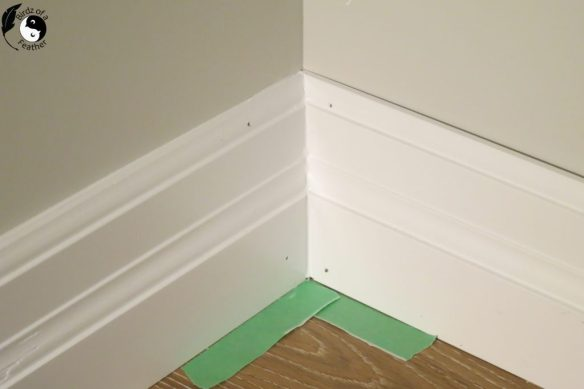 Whether you're building a space from scratch or just updating trim with more modern baseboards, learn how to install baseboards for great looking professional results. | How to install baseboards | how to install baseboard trim | how to install baseboards diy | DIY | Baseboard DIY | baseboards and trim | baseboard ideas | baseboards | baseboard trim | baseboard tips and tricks | baseboard caulking | baseboard caulking tips | Birdzofafeather.ca