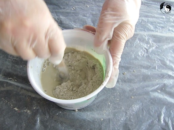 Mixing cement for cement planter molds