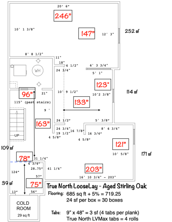 How to calculate how many True North LV Max tab you'll need for the vinyl flooring installation