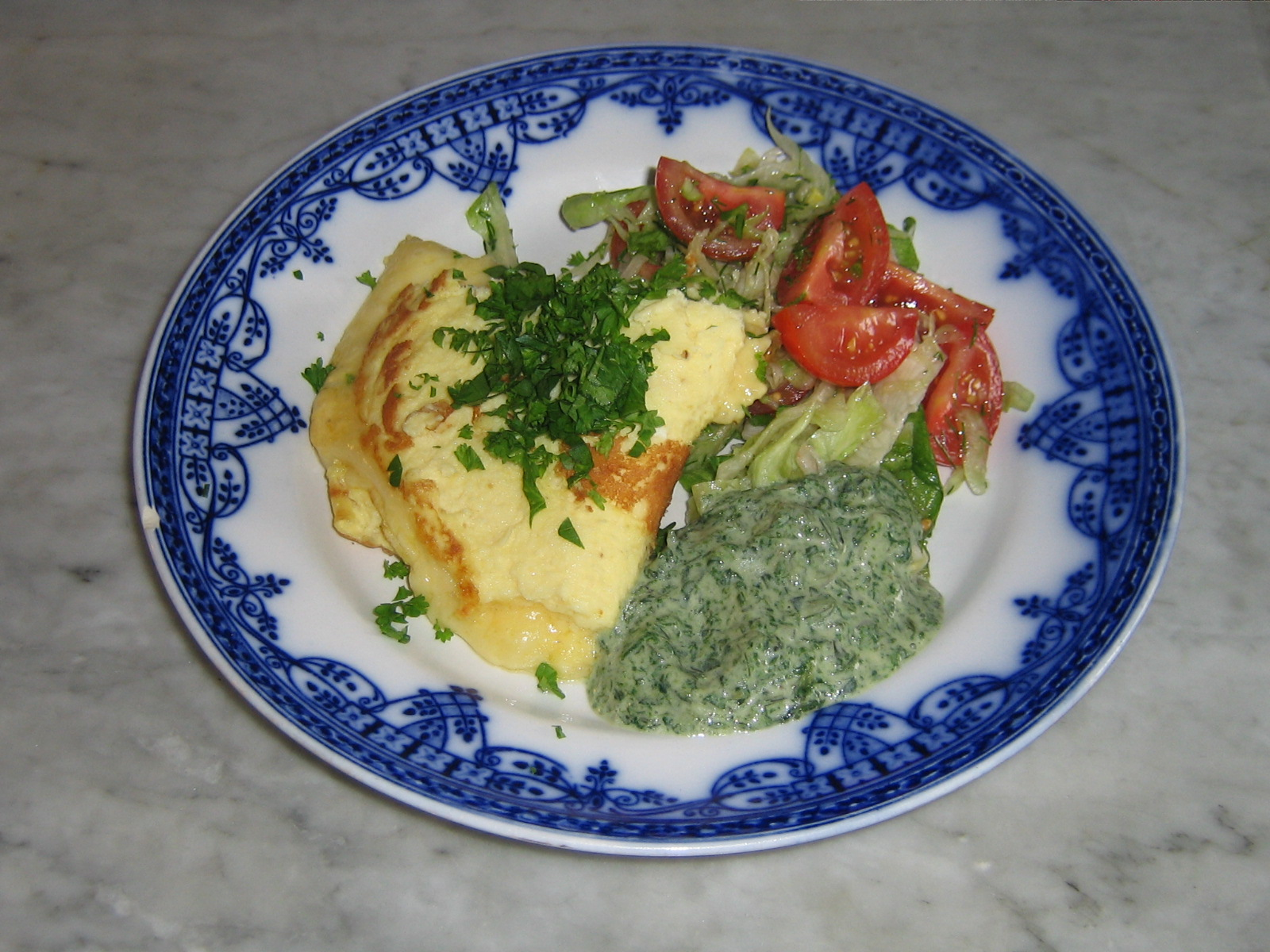 LCHF-omelett med Ost och Nässelstuvning