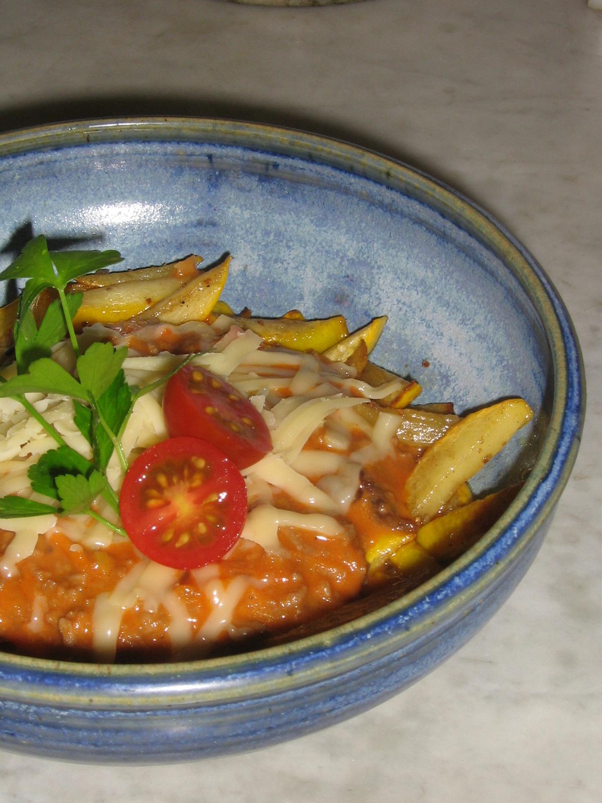Köttfärssås LCHF med gul Zucchini från Ås Trädgård