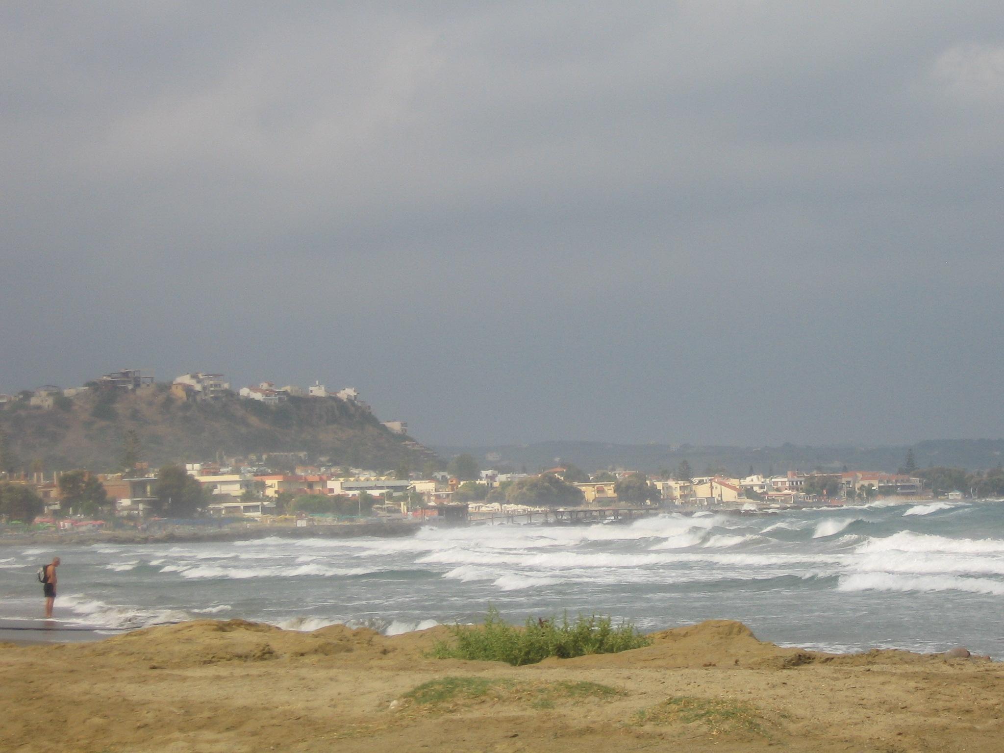 Tidig höststorm över Platanias, Kreta