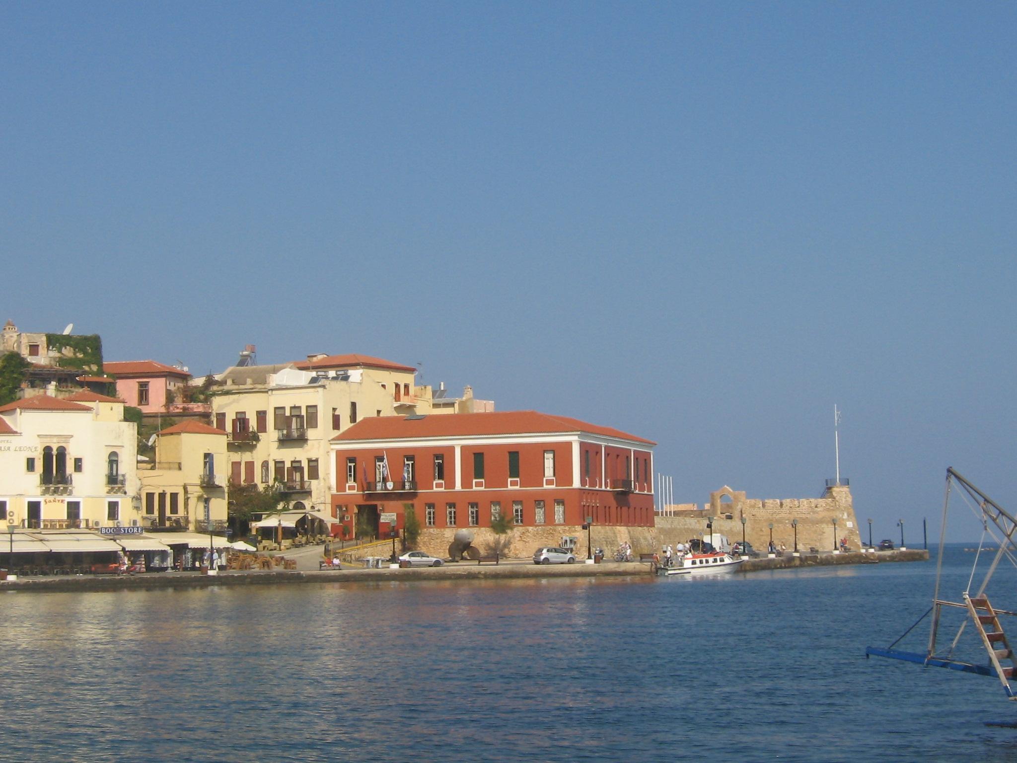 Den Venetianska hamnen i Chania