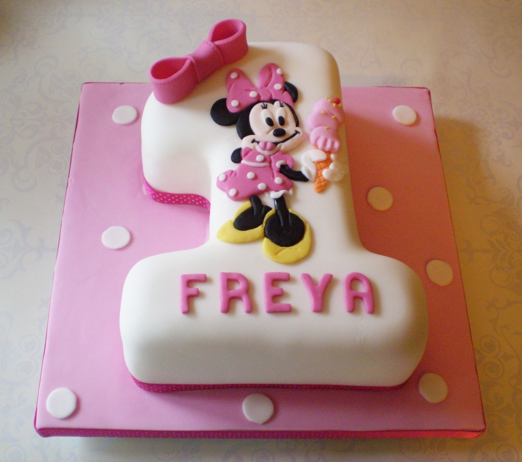 Admirable 1St Birthday Cake Ideas Minnie Mouse Cakes Decoration Ideas Little Personalised Birthday Cards Veneteletsinfo