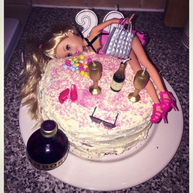 20Th Birthday Cake Ideas Tipsy Barbie 20th