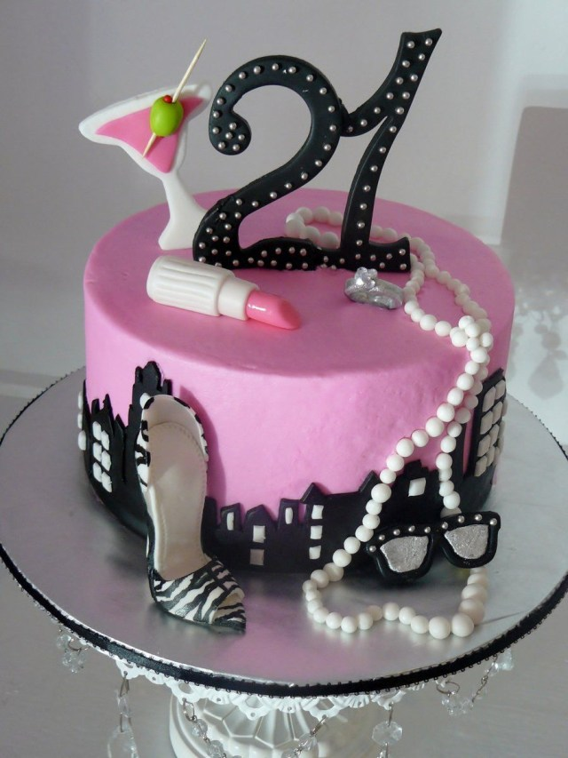 21 Birthday Cakes For Her Celebrating 21 On Cake Central Cake Pinterest Cake 21st
