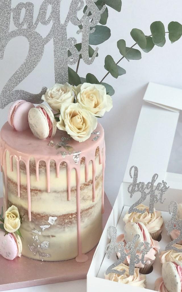 21St Birthday Cake 21st Birthday Cake Luxury Cakes Matching Cupcakes Antonias Cake