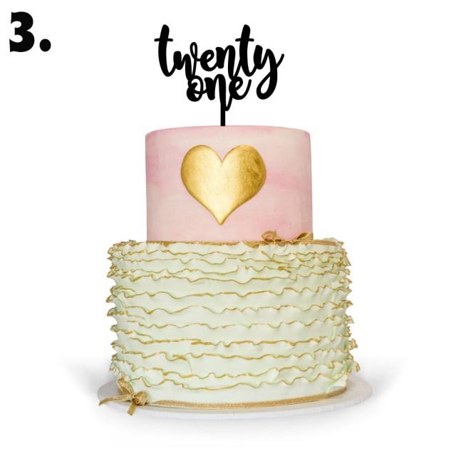 21St Birthday Cake 21st Birthday Cake Toppers Sweetheart Creative