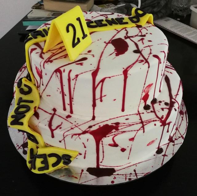 21St Birthday Cake Homemade Crimescene 21st Birthday Cake Food