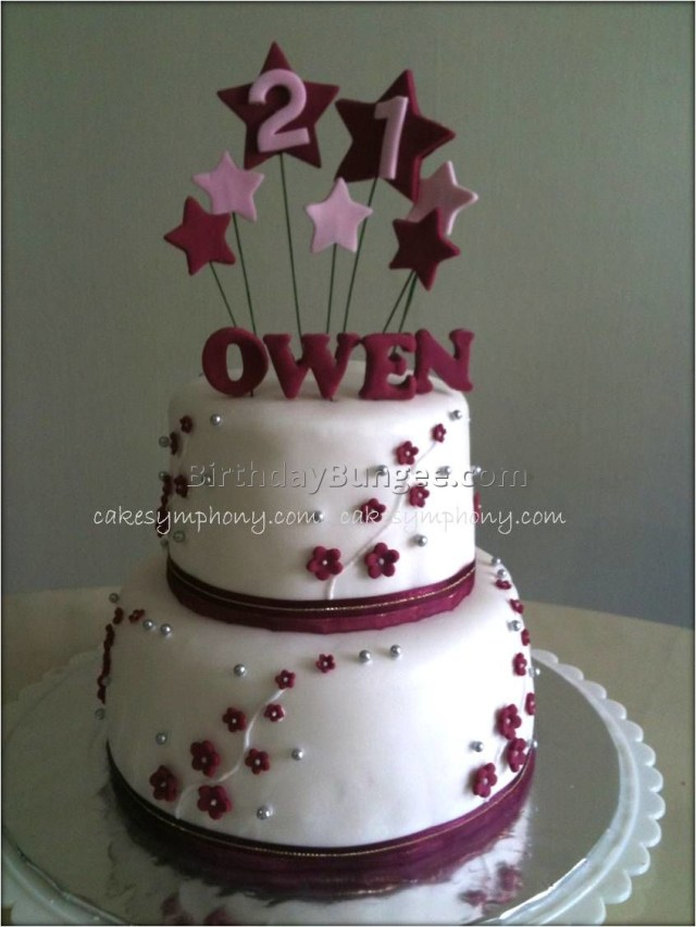 21St Birthday Cakes For Her 10 21st Birthday Cakes For Her Photo Pink And Black 21st Birthday