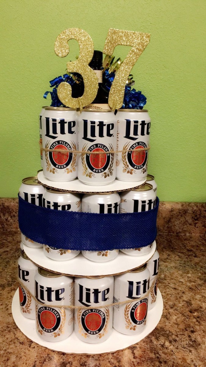 Remarkable 21St Birthday Cakes For Him Beer Cake Miller Lite 37Th Birthday I Personalised Birthday Cards Paralily Jamesorg