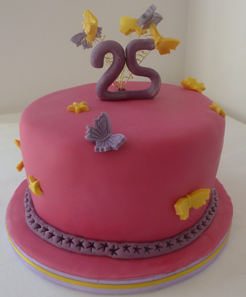 Fine 25Th Birthday Cakes 25Th Birthday Cake Wedding Birthday Cakes From Funny Birthday Cards Online Alyptdamsfinfo