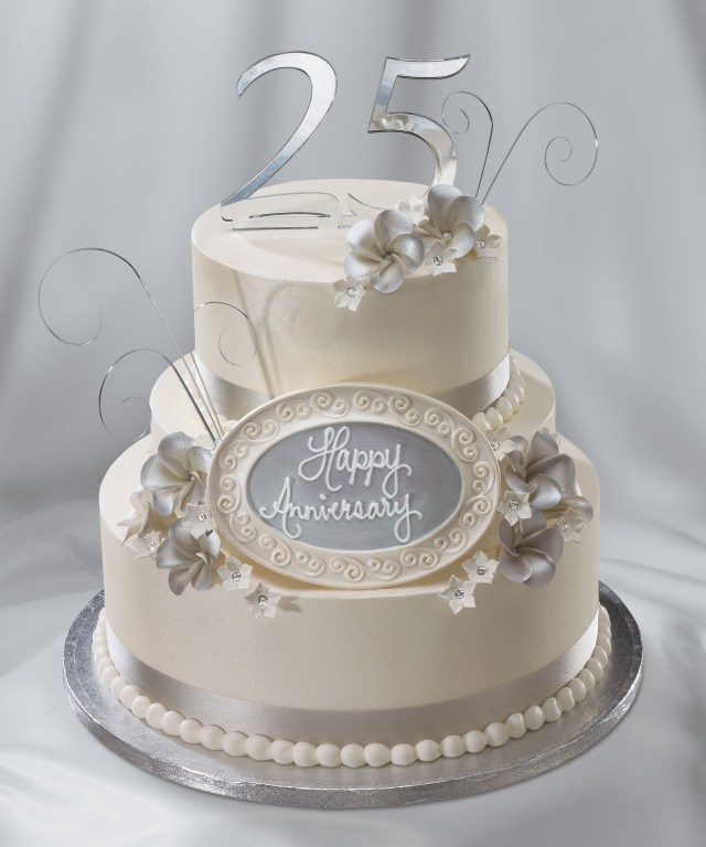 25Th Birthday Cakes 25th Wedding Anniversary Cake Silver Anniversary I Do Wedding
