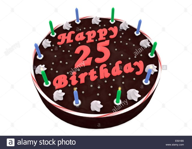 25Th Birthday Cakes Chocolate Cake For 25th Birthday Stock Photo 71915849 Alamy