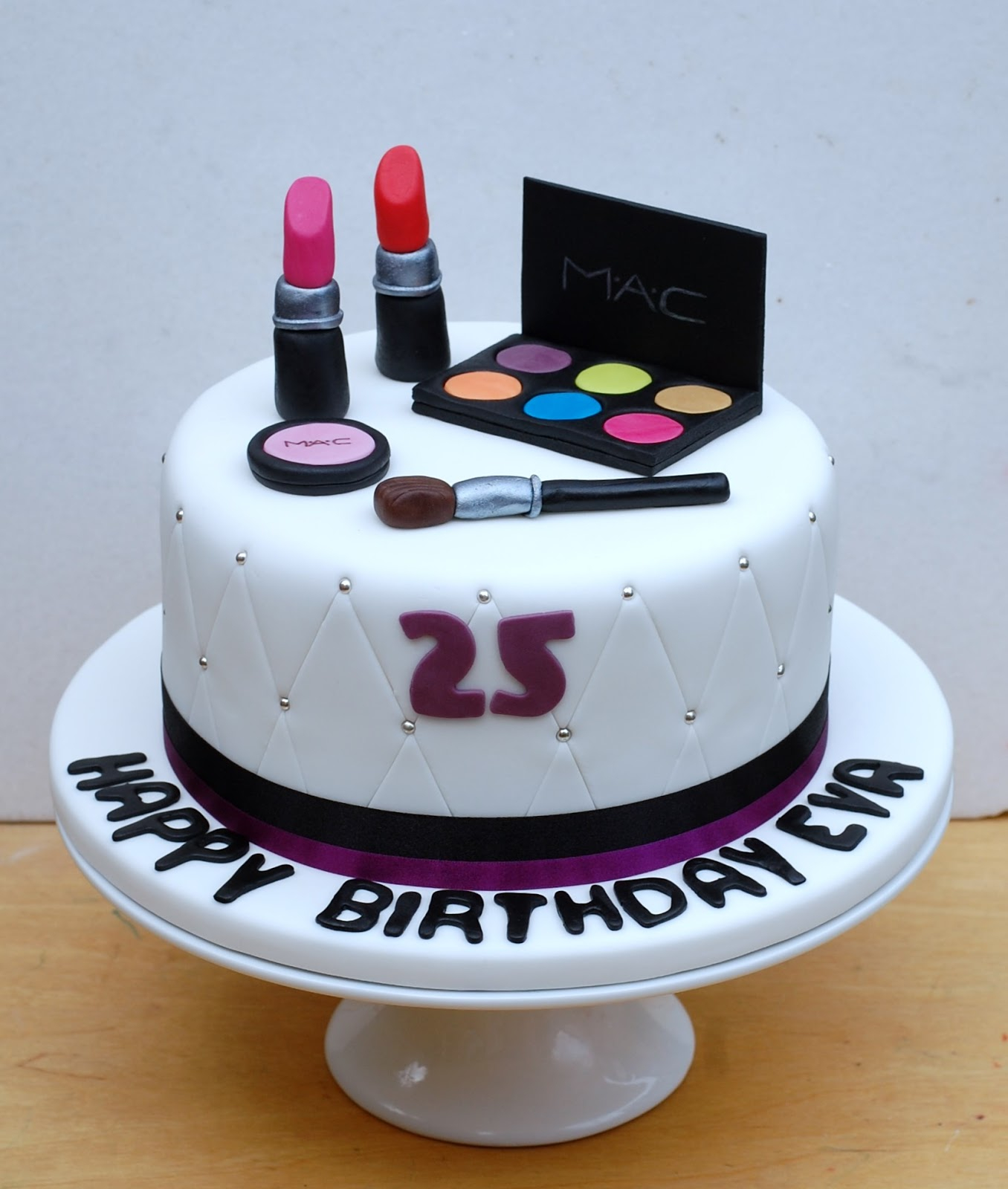 Miraculous 25Th Birthday Cakes Make Up Birthday Cake Vanilla Frost Cakes Funny Birthday Cards Online Alyptdamsfinfo