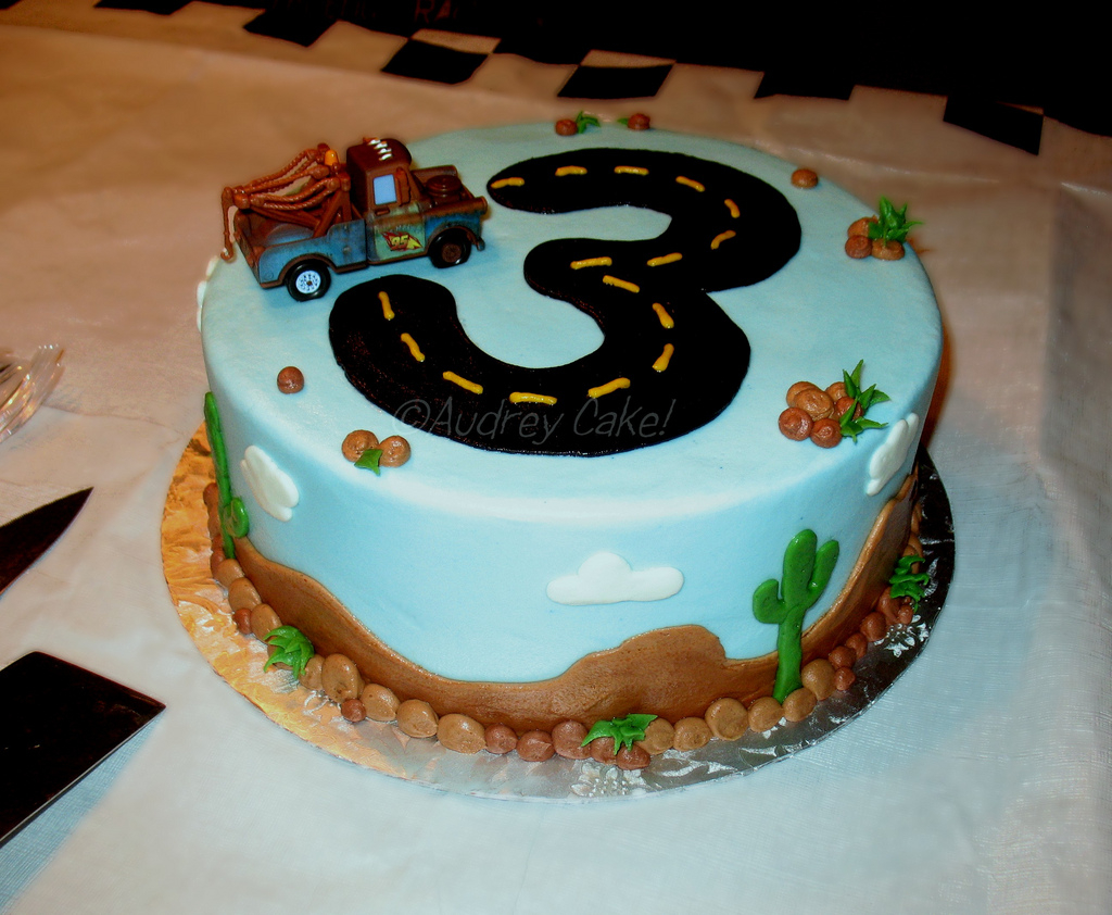 Groovy 3Rd Birthday Cake Cars 3Rd Birthday Cake With The Addition Of A Funny Birthday Cards Online Overcheapnameinfo