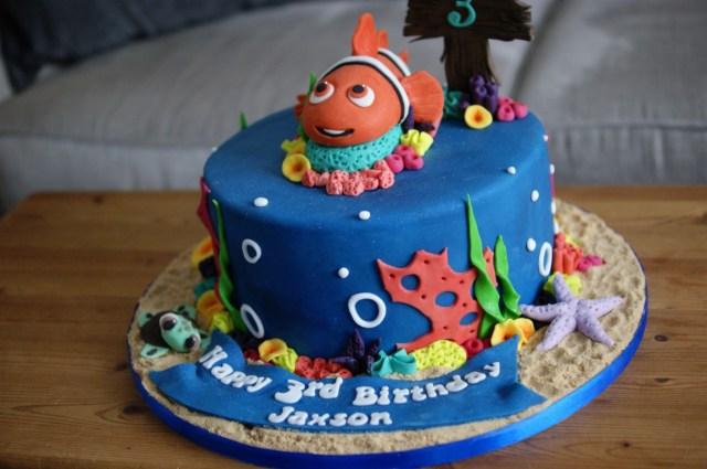 3Rd Birthday Cake Finding Nemo 3rd Birthday Cake Bakealous