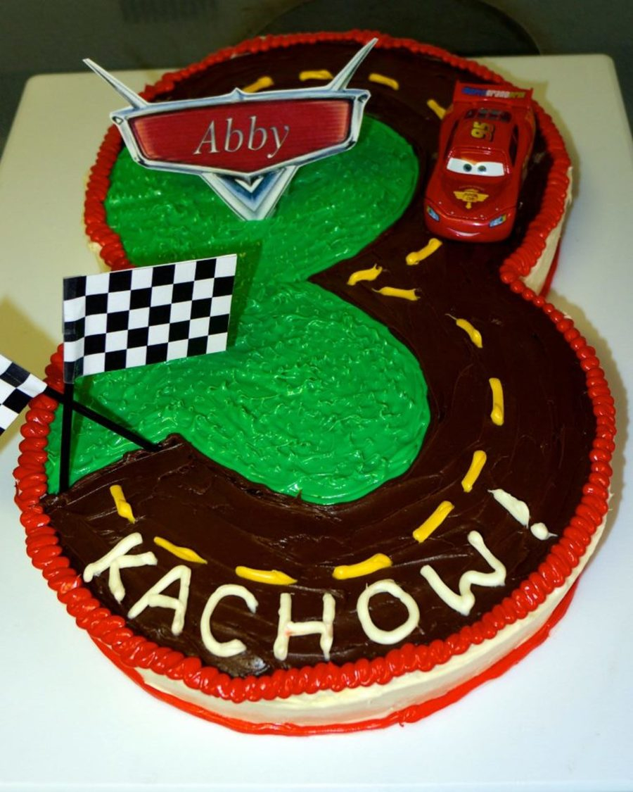 Magnificent 3Rd Birthday Cake Lightning Mcqueen Cars 3Rd Birthday Cake Personalised Birthday Cards Cominlily Jamesorg